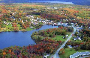 Aerial view of downtown Monson