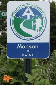 Appalachian Trail Community Sign, Monson Maine